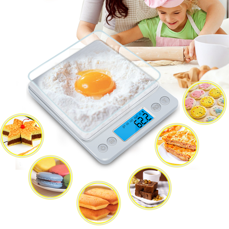 Z1s Digital Kitchen Scale Mini Pocket Stainless Steel Precision Jewelry Electronic Balance Weight Gold Grams(3000gx0.1g)