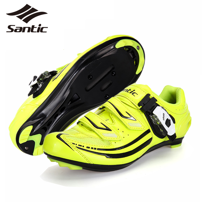 PRO SANTIC Road Bike Shoes Ladies Micro Fiber Bicycle Cycling Shoes 2017 Women Riding Athletic Self-Locking Shoes chaussure velo santic men cycling shoes tpu athletic self locking sports triathlon road bicycle bike shoe sapatillas ciclismo chaussure velo