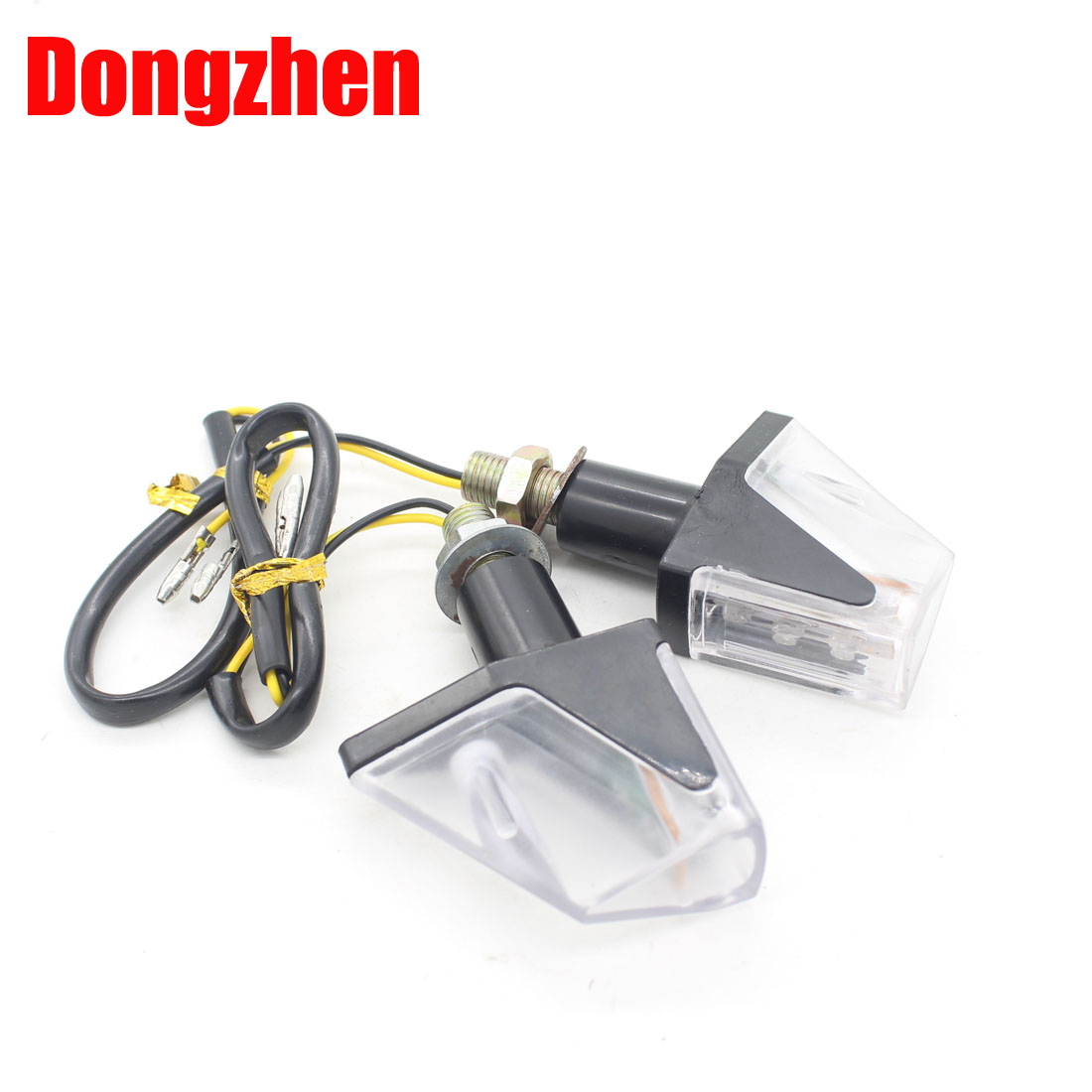 Dongzhen motorcycle LED turn signal light universal motorcycles indicator light black color brand new hot sale style 2pcs
