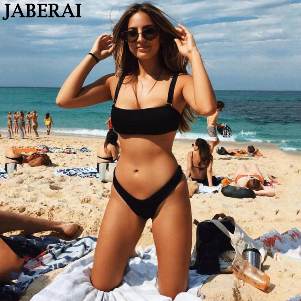 JABERAI Sexy Bikini Set 2018 Women Swimwear Swimsuit High Cut Thong Bottom Brazilian Bikini Beach Bathing Suit Bandeau Biquinis brazilian tanga bikini 2016 swimwear women big bow thong bikini bottom sexy brazilian biquini bralette trajes de bano women