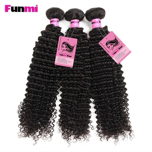 Funmi Malaysian Virgin Hair Kinky Curly Human Hair Bundles 3pcs 100