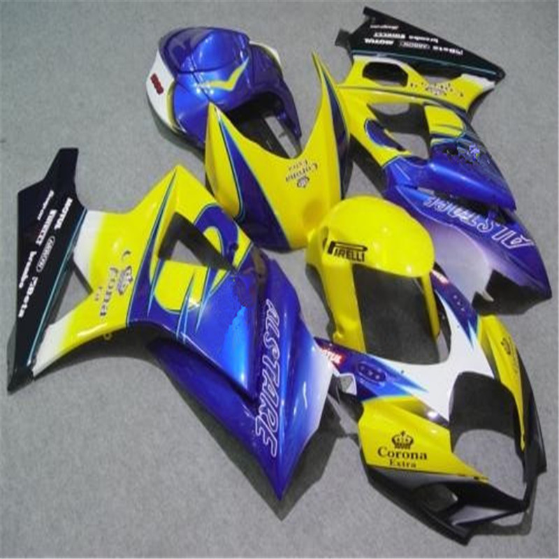 Free Custom Fairing <font><b>kits</b></font> for <font><b>Suzuki</b></font> GSXR 1000 K7 <font><b>K8</b></font> 2007 2008 ABS motorcycle street fairings <font><b>kit</b></font> <font><b>GSXR1000</b></font> 07 08 black white K7K8 image