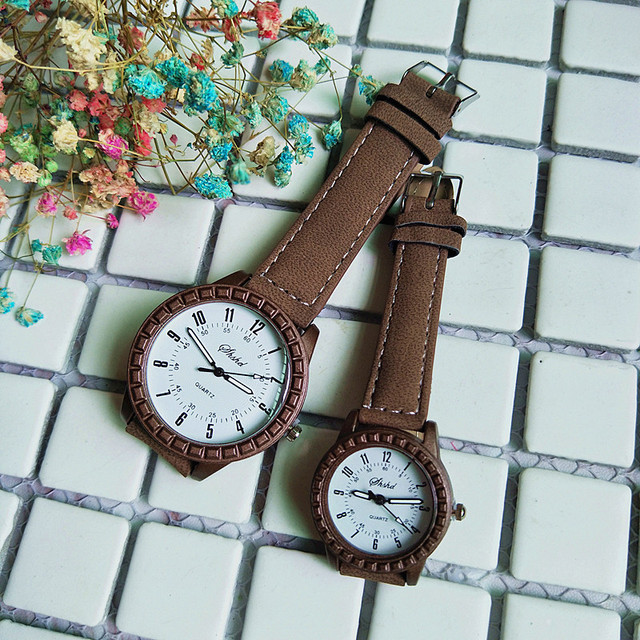 New style clothes to be matched with classical couple wristwatch, high-grade belt quartz watch, women's watch, children's Watch