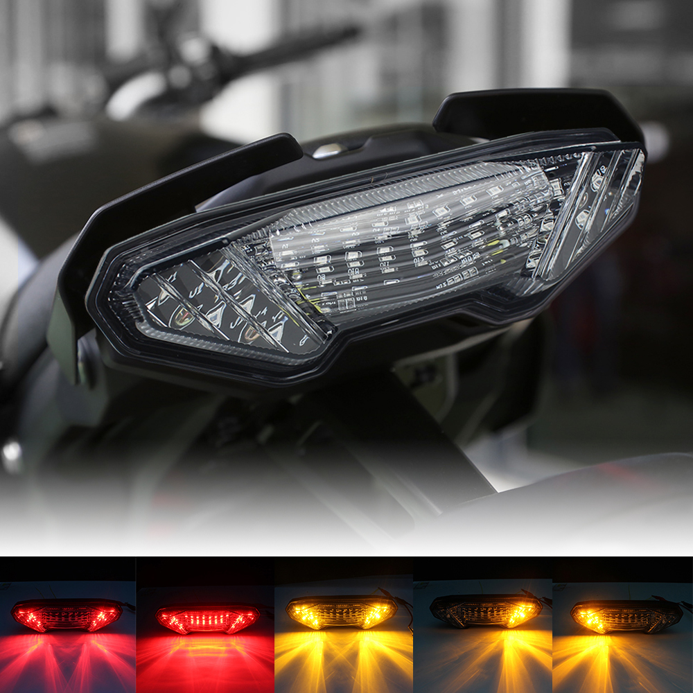 Smoke LED Tail Light Brake Turn Signals For Yamaha MT09 FZ09 2014 2015 2016 New