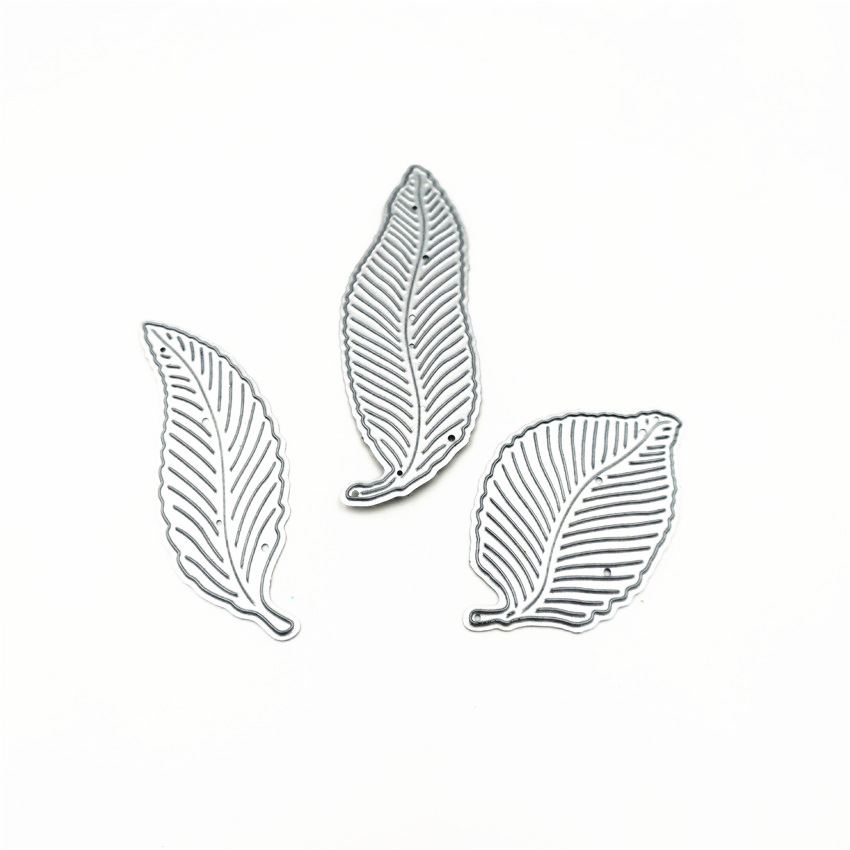 AZSG Leaf Cutting Dies For DIY Scrapbooking Decoretive Embossing Stencial DIY Decoative Cards Die Cutter in Cutting Dies from Home Garden