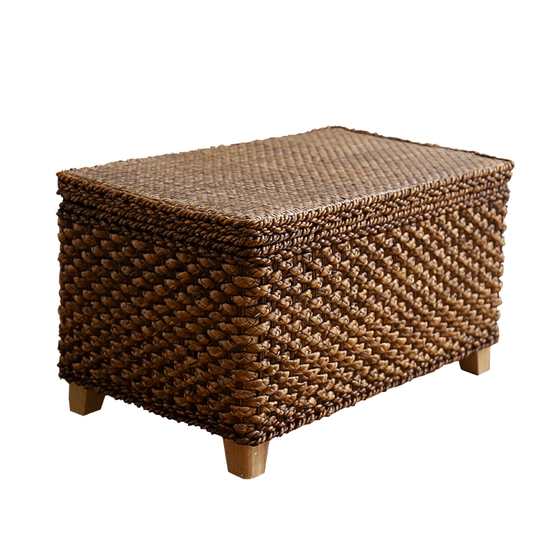 Admirable Us 99 27 30 Off Pastoral Cane Straw Storage Storage Bench Change Shoes Footrest Sofa Square Stool Can Sit People Finishing Storage Box In Stools Creativecarmelina Interior Chair Design Creativecarmelinacom