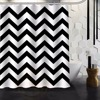Fashion Zebra Stripe Black And White Bath Curtain Shower Curtains Polyester Waterproof Shower Curtain With Plastic12