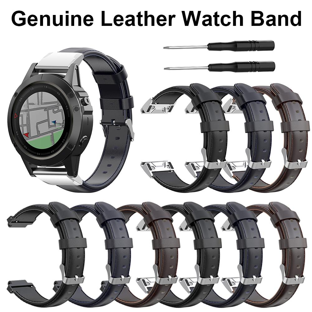 2019 For Garmin Forerunner230 235 620 630 Fenix5 Forerunner945 935 Fenix3 Fenix5X Smart Watch Leather Sports Band Strap