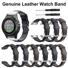 For Garmin Forerunner230 235 620 630 Fenix5 Forerunner945 935 Fenix3 Fenix5X Smart Watch Leather Sports Band Strap
