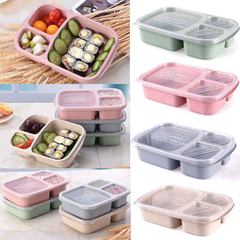 2018 Newest Hot Microwave Bento Lunch Box Picnic SuShi Fruit Food Container Storage Box High Quality