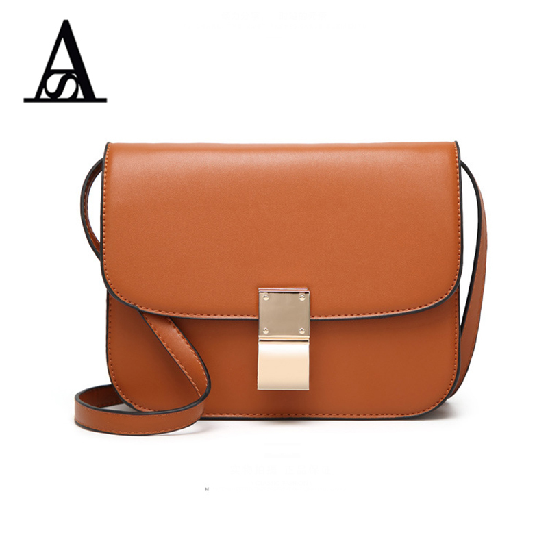 Aitesen 2017 Fashion Women Small Clutch Box Bag Flap Split Leather Crossbody Shoulder Bags Lady Sac a Main Classic Coin Purse vintage handbags clutch retro women messenger bags panelled box bag rivet crossbody shoulder bags small handbag purse sac a main