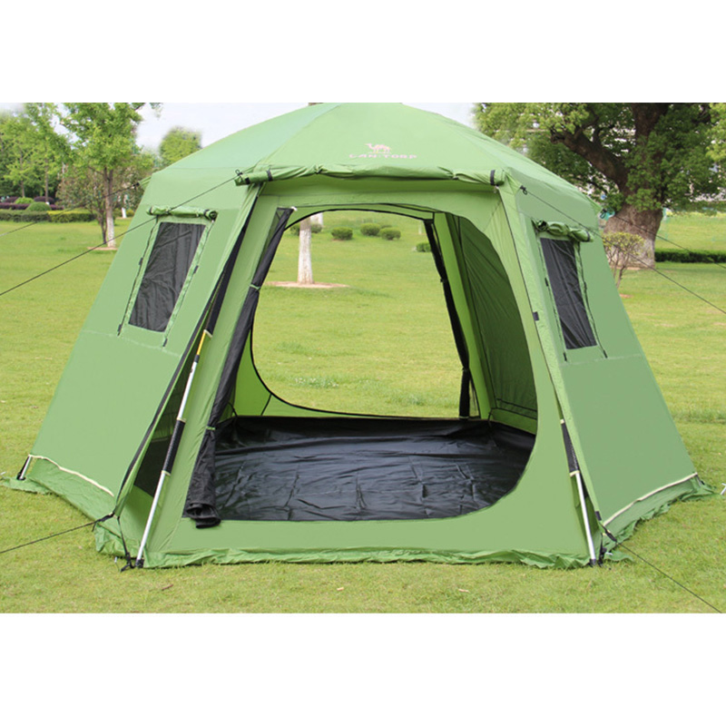 Automatic Opening 6-8 Person Double Layer Big Space Family Party Tents Camping Tent Travel Tent With Snow Skirt hillman 4 person camping tent with snow skirt double layer aluminum rod large tent one living room one bedroom family waterproof