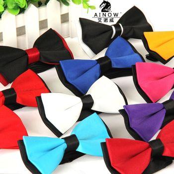цена на 2015 Men's bowtie accesorios patchwor solid color bowknots bowties 12cm * 6cm butterfly bow tie gravatas borboleta lot Wholesale