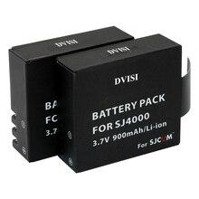 2 pz/lotto 900mAh SJ4000 SJCAM Batterie Ricaricabili per SJCAM SJ4000 WiFi SJ5000 WiFi Più M10 SJ5000 più SJ6000 SJ7000 SJ8000