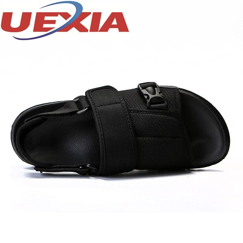 Летние сандалии для прогулок обувь для Для мужчин Повседневное дышащий водонепроницаемая обувь мужские пляжные сандалии Hombre Мужская обувь...