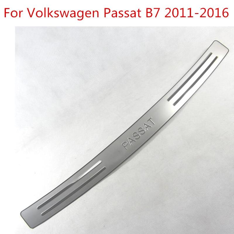 Acheter Pour Volkswagen Passat B7 2011 2016 Voiture de Coiffure Haute qualité Car styling arrière Seuil De Voiture pare chocs Protecteur inoxydable acier style de Chrome Styling fiable fournisseurs
