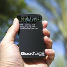 Dumb black metal card black metal business card creative production high-grade metal membership card business card