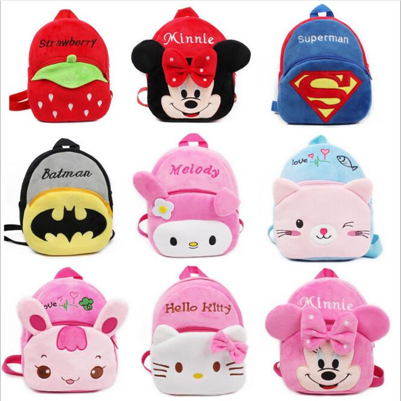 POESECHR Cartoon Kids Plush Backpacks Baby Toy Schoolbag Student Kindergarten Backpack Cute Children School Bags For Girls Boys