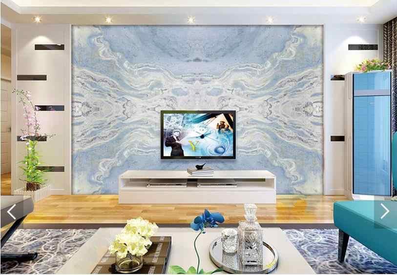 Индивидуальные 3d фото обои 3d ТВ обои фотообои из голубого нефрита золотой песчаник мраморный камень установка стены 3d гостиная обои
