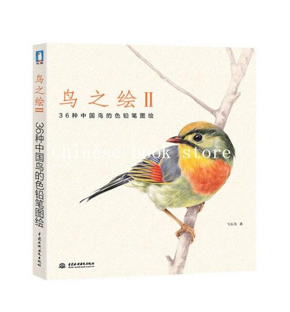 Cina Berwarna Pensil Gambar 36 Hewan Burung Cina Lukisan Seni Gambar