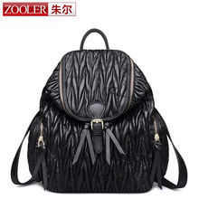 ZOOLER BRAND sheepskin genuine leather backpacks 2016 new Classic women leather backpack limited offer #8105
