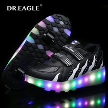 Child LED Light Children Roller Skate shoe led luminous Kids rollers sneakers with wheels roller SHOES