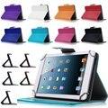 Para HP Slate 7 3G (G1V99PA) Caso de la Cubierta Del Soporte Del cuero de RUSIA Para HP Slate 7 VoiceTab Ultra Universal 7 pulgadas Tablet cases S2C43D