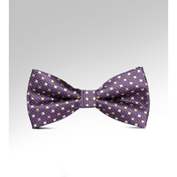 New Woven Jacquard Purple Dot Bow Tie Fashion Novelty Men Adjustable Tuxedo Bowtie Butterfly Knot Cravat Neck Tie with Gift Box