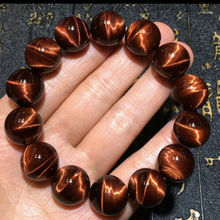 16mm Best Natural Brazil Red Tiger Eye Gemstone Round Beads Bracelet For Women Men Strong Cat Crystal Drop Shipping AAAAA