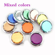 20pcs Portable Pocket Mirror in 7colors custom engraved free with your wedding date and names you can choose gift box or bags