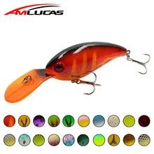 Купить с кэшбэком Amlucas Big Wobbler Fishing Lures 10cm 14.3g Artificial Hard Baits for bass pike Jerkbait Crankbait Minnow carp Fishing WW1173