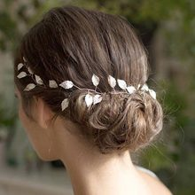 New West Style Wedding Headbands for Women Bridal Beautiful Leaves Fashion Girls Hair Band Simple Elegant Bride Accessories(China)