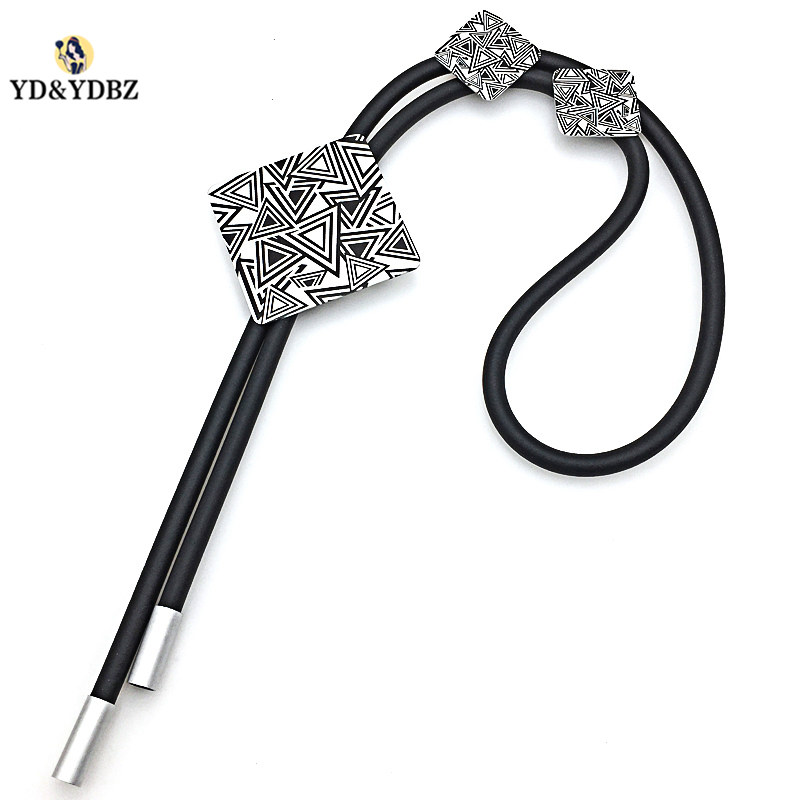 YD YDBZ 2019 New Designer New Womens Necklaces Jewelry Black Pendant Necklace Long Simple Necklace European Party Punk Style in Pendant Necklaces from Jewelry Accessories