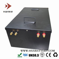 Custom Lithium Lifepo4 48V 100Ah Battery Pack Deep Cycles Long Time Metal Case or ABS Portable Case