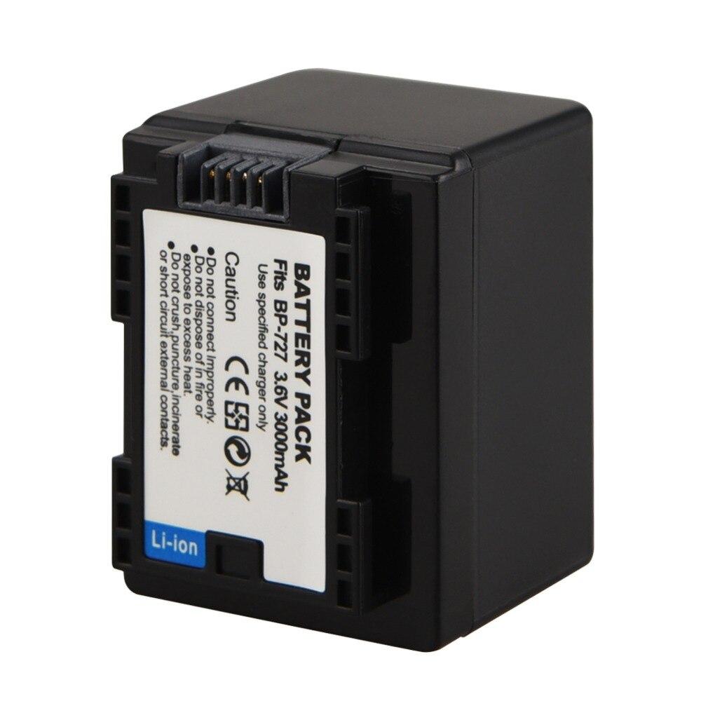 Цифровой аккумулятор 3000 мАч BP 727 709 718 для камеры Canon, фотокамера VIXIA HF M56 M506 M52 R38 R300 R36, запасная литий-ионная батарея