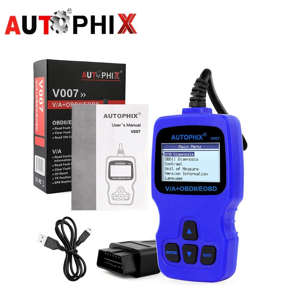 Autophix V007 Code Readers Scan Tools Diagnostic Reader Scanner Tool For Audi VW Skoda Auto Automotive Diagnostic-tool u280 1 5 lcd vw audi car diagnostic code reader memo scanner