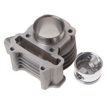 47mm Big Bore Cylinder Piston Kit Rings For Scooter Moped GY6 50 60 80 139QMB Balaclava athena 072900 47mm diameter aluminum 70cc sport cylinder kit