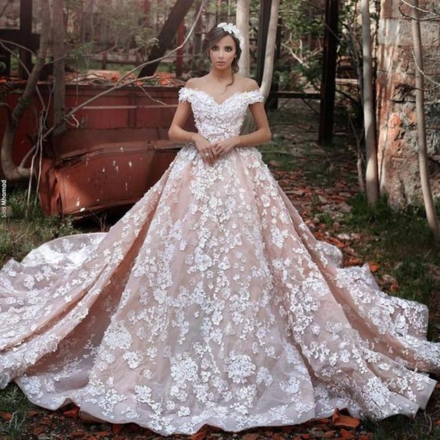 Sadek Majed Off Shoulder Wedding Dresses 2017 Splendidly Romantic ...