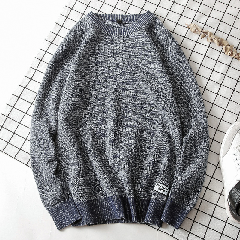 Mens Sweaters 2019  O-Neck  Pullovers  Cotton    Solid  Thin Wool  Long Sleeve  Fall   Winter Sweater  Casual  Standard  3XL