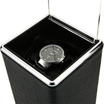 Автоматические вращающиеся часы коробка намоточный дисплей коробки Прозрачная крышка органайзер для хранения ювелирных изделий US Plug Caixa De ...