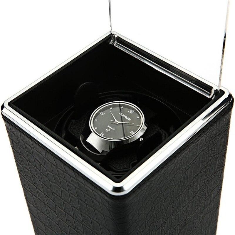 Автоматическое вращение Смотреть Box намоточный дисплей коробки Прозрачная крышка ящик для хранения ювелирных изделий Организатор США Plug ...