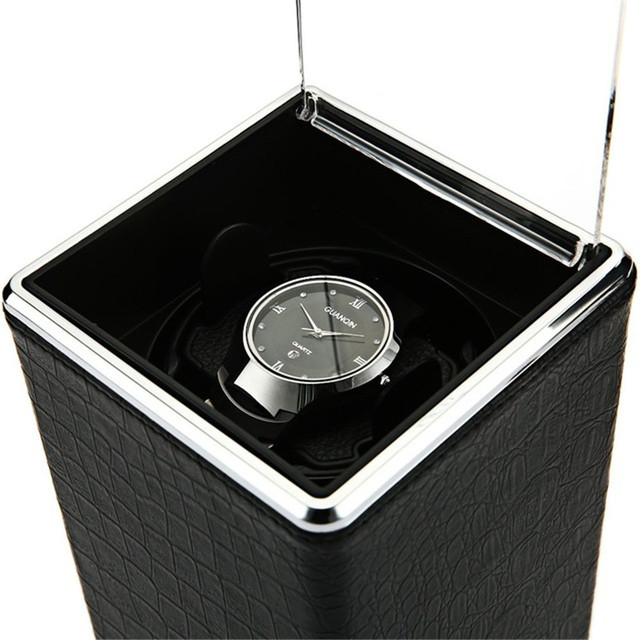 Automatic Rotation Watch Box Winder Display Boxes Transparent Cover Jewelry Stor