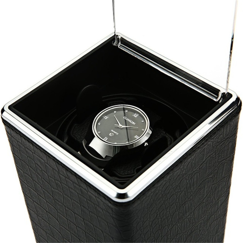 Automatic Rotation Watch Box Winder Display Boxes Transparent Cover Jewelry Storage Organizer US Plug Caixa De Relogios