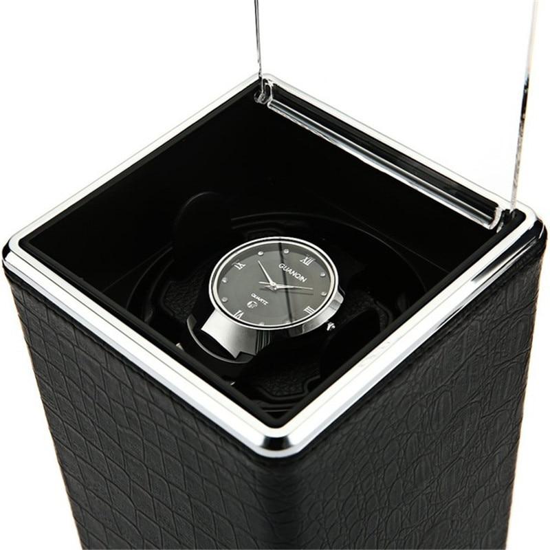 Rotazione automatica Contenitore di Vigilanza Winder Display Scatole Trasparenti Della Copertura Dei Monili Dell'organizzatore di Immagazzinaggio Spina DEGLI STATI UNITI Caixa De Relógios
