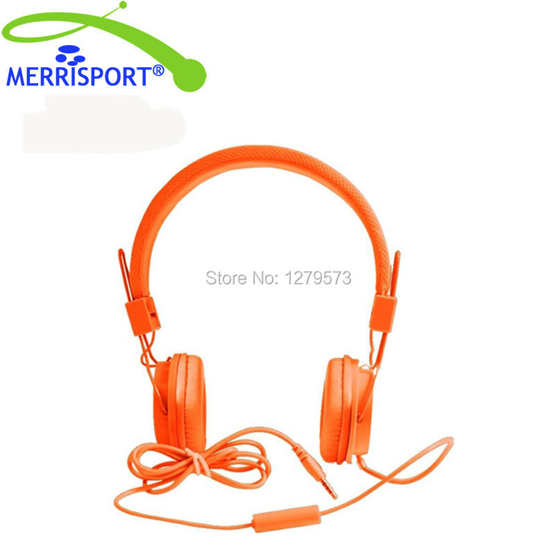 MERRISPORT Ear Headphones 3.5mm Headsets for iPhone iPad iPod Android Smartphones PC Laptop Mac Tablet Music Game MP3 MP4 Player
