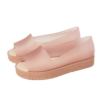 Melisss Puzzle Shoes Women Sandals Beach Jelly Shoes Mulher Woman Flat Sandals Soft 4 Candy Colors Summer Casual Slip On Sandals
