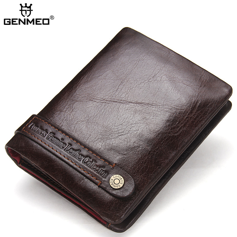 New Arrival Famous Brand Design Genuine Leather Wallets Leather Clutch Bag Real Leather Vintage Wallet Credit Card Holder Purse 2017 genuine cowhide leather women wallets fashion purse card holder vintage long wallet clutch wrist bag k103