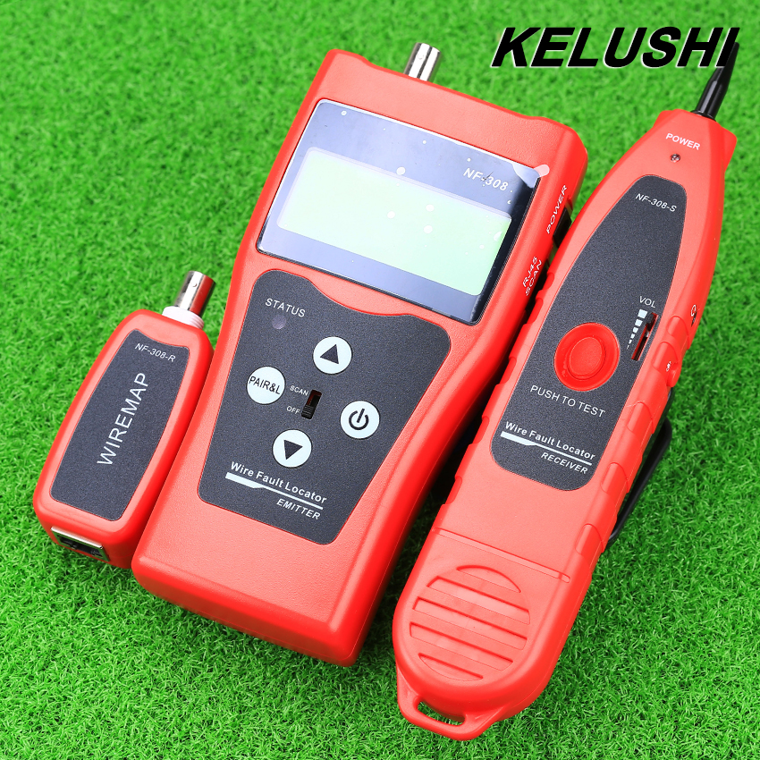 KELUSHI NF-308 Multipurpose Network Cable Test Hunting wire sorting cable length test 5E 6E cable coaxial RJ45 Free Shipping  цены