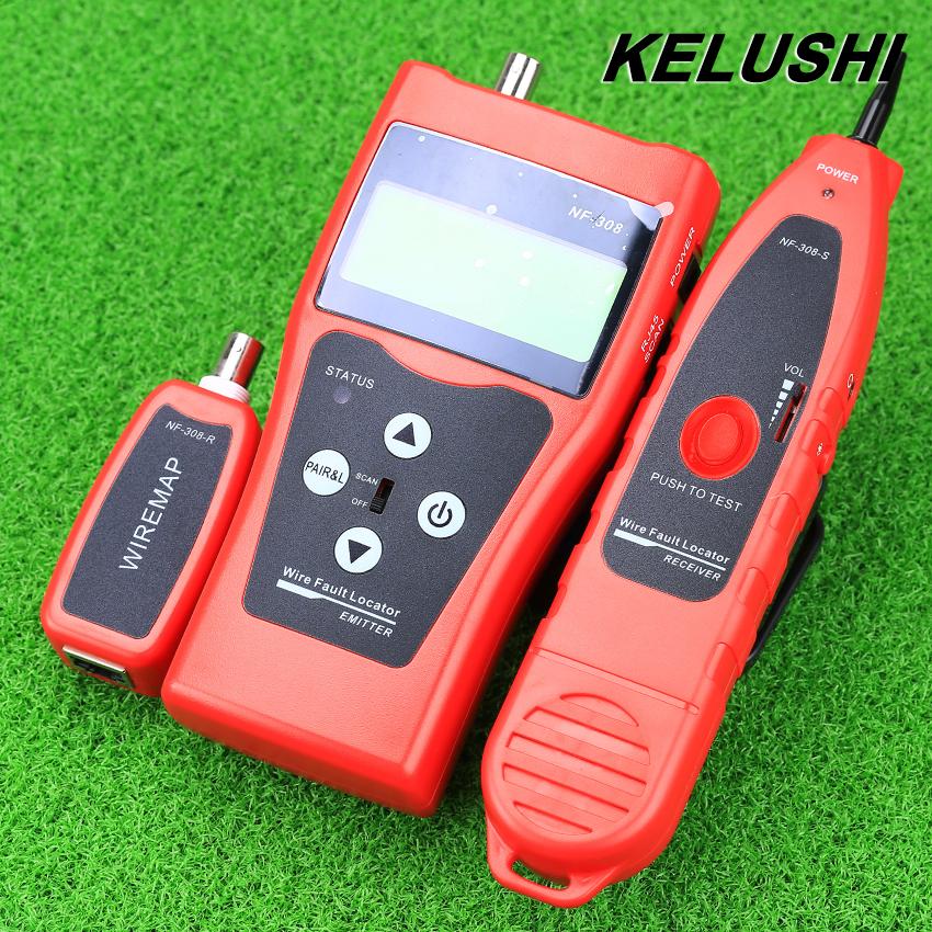 Prix pour KELUSHI NF-308 Polyvalent Réseau Câble Test Chasse tri câble longueur test 5E 6E câble coaxial RJ45 Livraison Gratuite