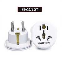5 teile/los Universal Europa 16A Reise Adapter EU Konverter UK US AU zu EU AC Steckdose Stecker Ladegerät Adapter 2 runde Pin Buchse